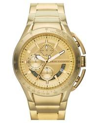 AX Armani Exchange Aluminum Accent Bracelet Watch 45mm Gold