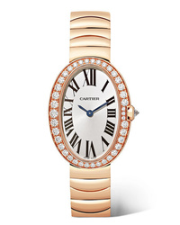 Cartier Baignoire 245mm Small 18 Karat Pink Gold And Diamond Watch