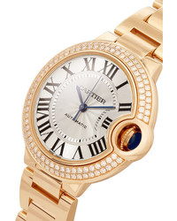 Cartier Ballon Bleu De Automatic 36mm 18 Karat Pink Gold And Diamond Watch