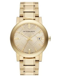 Burberry Check Stamped Round Bracelet Watch 38mm