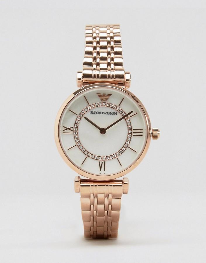 Emporio Armani Emporio Armani Gold T Bar Watch AR1909   Where to buy ... 4caf1d3d97b