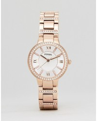 Fossil Es3284 Bracelet Watch In Rose Gold