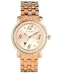 Lipsy Gold Fine Links Diamond Watch