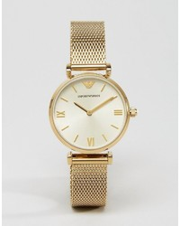 Emporio Armani Gold Mesh Gianni Watch Ar1957