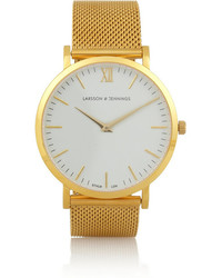 Camilla And Marc Larsson Jennings Cm Gold Plated Watch