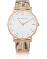 Camilla And Marc Larsson Jennings Cm Rose Gold Plated Watch