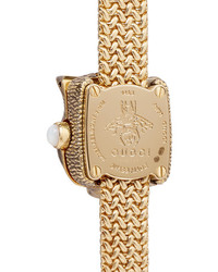 Gucci Le March Des Merveilles Secret 8mm 18 Karat Gold Diamond And Mother Of Pearl Watch