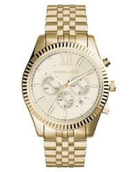 Michael Kors Lexington Chronograph Watch Gold