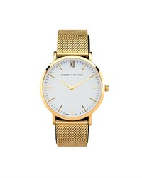 Lugano gold plated watch medium 132105