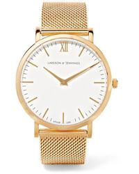 Larsson & Jennings Lugano Gold Plated Watch One Size