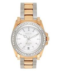 Breil Manta Crystal Bezel Bracelet Watch 38mm Rose Gold Silver