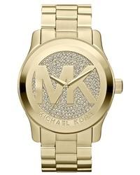 MICHAEL Michael Kors Michl Kors Runway Logo Dial Bracelet Watch 45mm