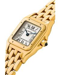 Cartier Panthre De Small 22mm 18 Karat Gold Watch