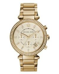 Michael Kors Parker Chronograph Watch Gold Coloured