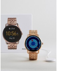 Fossil Q Wander Bracelet Smart Watch In Rose Gold Ftw2112