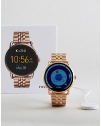 Fossil Q Wander Bracelet Smart Watch In Rose Gold