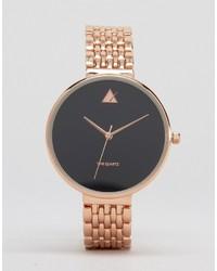 Asos Rose Gold Blackout Dial Watch