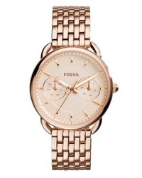 Fossil Tailor Watch Rosegold Coloured