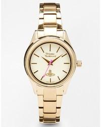 Vivienne Westwood Time Machine Gold Bracelet Watch Vv111gd