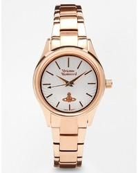 Vivienne Westwood Time Machine Rose Gold Bracelet Watch Vv111rs