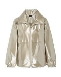 Akris Veronique Metallic Wool Blend Taffeta Jacket