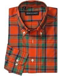 Green and Red Plaid Long Sleeve Shirt