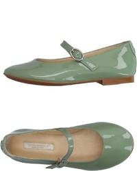 Green Ballet Flats