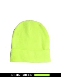 Neon beanie hat medium 22122