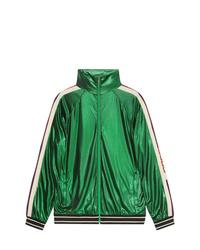 f4a4e029947 Gucci Oversize Laminated Jersey Jacket