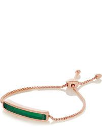 Monica Vinader Baja Rose Gold Plated Green Onyx Bracelet