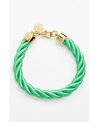 kate spade new york Learn The Ropes Cord Bracelet Bud Green Gold