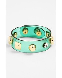 Cara Couture Studded Bracelet Green
