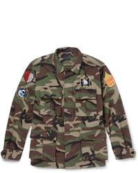 Camouflage print cotton field jacket medium 544913