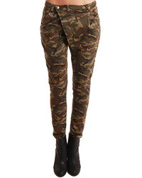 Green Camouflage Jeans