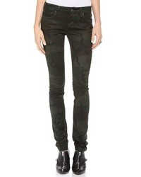 Coated debbie skinny jeans medium 7348