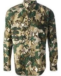 MSGM Camouflage Print Shirt