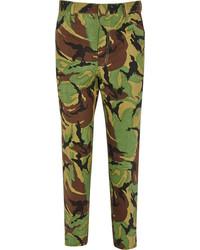 Camouflage print high rise slim leg jeans medium 125958