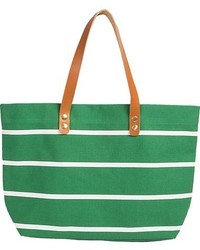Green Canvas Tote Bag