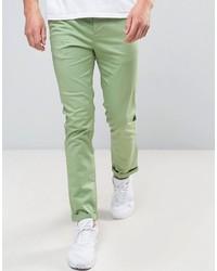 Asos Slim Chino In Light Green
