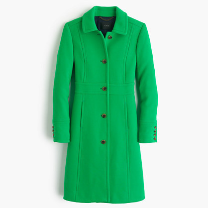 J Crew Italian Double Cloth Wool Lady Day Coat With Thinsulate 292