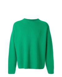 AMI Alexandre Mattiussi Crew Neck Wool Oversize Sweater