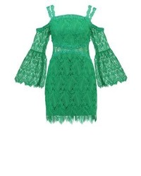 Three floor Rainforest Summer Dress Emerald