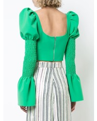 Christian Siriano Cut Detail Long Sleeve Top