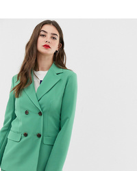 Asos Tall Asos Design Tall Double Breasted Suit Blazer In Sage