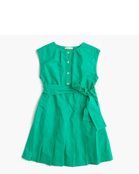 J.Crew Girls Pleated Shirtdress