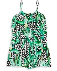 Mara Hoffman Toddler Girls Ruffle Cover Up Dress Size S Green