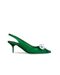 Burberry Rope Detail Patent Leather Slingback Pumps