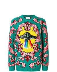 Gucci Sweater With Ufo Appliqu