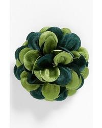 Green Floral Lapel Pin