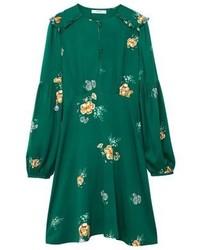 Vestido verde flores mango